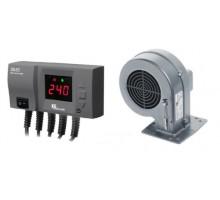 Комплект для котла (реле управления+вентилятор) KG Elektronik CS-20+DP-02 black