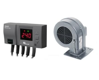 Комплект для котла (реле управления+вентилятор) KG Elektronik CS-20+DP-02