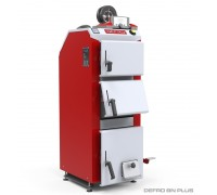 Котел твердотопливный DEFRO BN PLUS (с автоматикой) 15 кВт. red-gray