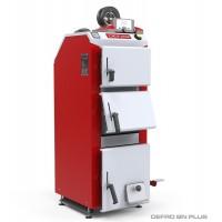 Котел твердопаливний DEFRO BN PLUS (с автоматикой) 29 кВт. червоно-сірий