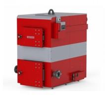 Котел твердотопливный DEFRO OPTIMA PLUS MAX (с автоматикой) 50 кВт. красно-серый