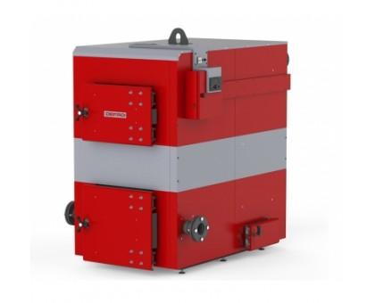 Котел твердотопливный DEFRO OPTIMA PLUS MAX (с автоматикой) 200 кВт. красно-серый