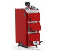 Котел твердопаливний DEFRO KDR PLUS 3 (с автоматикой) 15 кВт. червоно-сірий