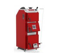 Котел твердотопливный DEFRO DELTA PLUS (с автоматикой) 42 кВт. red-gray