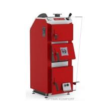 Котел твердопаливний DEFRO DELTA PLUS (з автоматикою) 42 кВт. червоно-сірий.