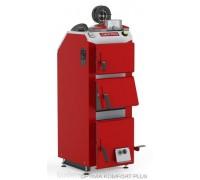 Котел твердотопливный DEFRO Optima Komfort А PLUS (с автоматикой) 35 кВт. red-gray