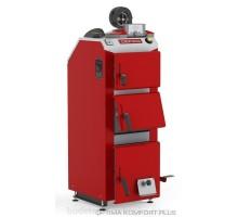 Котел твердотопливный DEFRO Optima Komfort А PLUS (с автоматикой) 15 кВт.red-gray