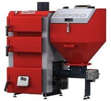 Котел твердопаливний DEFRO DUO MINI 14 кВт. червоно-сірий