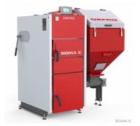 Котел твердотопливный DEFRO Sigma E 12 кВт. red-gray