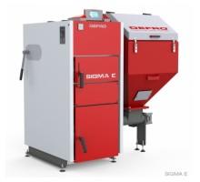 Котел твердопаливний DEFRO Sigma E 12 кВт. червоно-сірий
