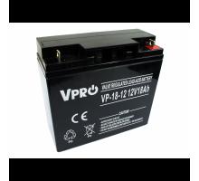 Аккумулятор  Volt Polska VPRO 18 Ah 12V AGM VRLA черный (6AKUAGM009)