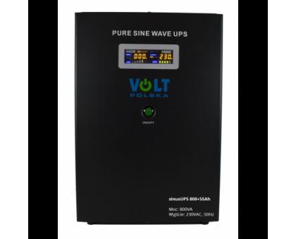 Источник бесперебойного питания Volt Polska Sinus UPS 800+55 Ah.
